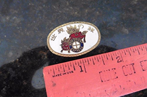 NEW ORIENT EXPRESS train railroad Brass Lapel Hat Pinback Pin Enamel Etched (Railroad Enamel)