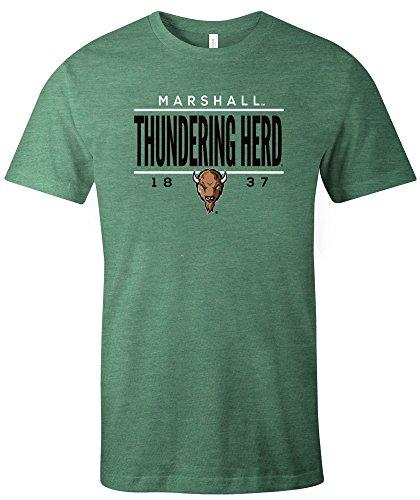 - NCAA Marshall Thundering Herd Tradition Short Sleeve Tri-Blend T-Shirt, Green,Large