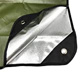Arcturus Heavy Duty Survival Blanket – Insulated Thermal Reflective Tarp - 60' x 82'. All-Weather, Reusable Emergency Blanket for Car or Camping (Olive Green)