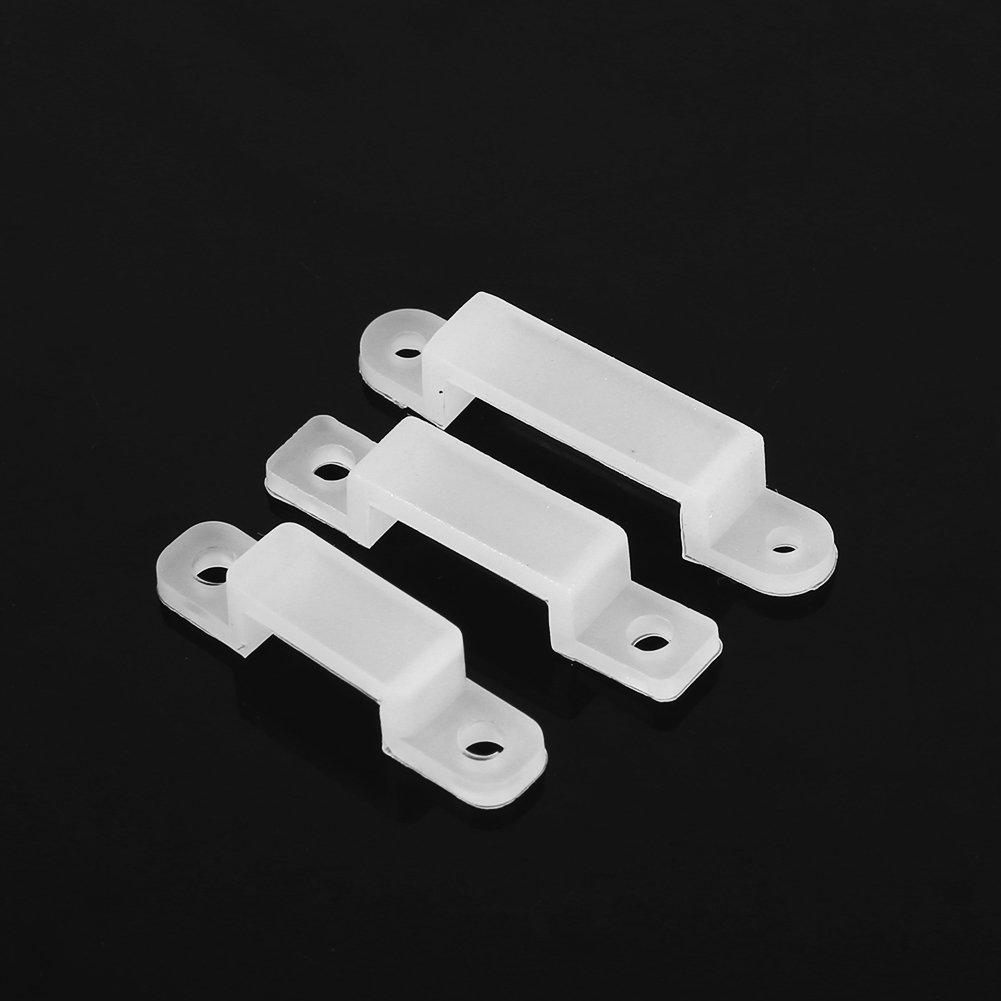 8//10//12mm LED Light Strip Fixing Silicon Clip 100 PCS 12mm Strip Light Mounting Bracket Clips for 3528 5050 1210 RGB LED Strip