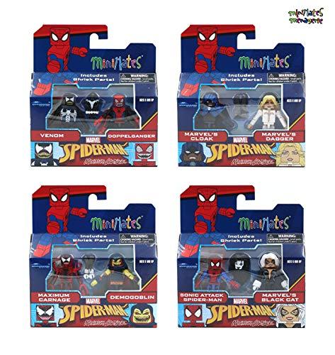 (Minimates Marvel Series 76 Maximum Carnage Complete Set of Four 2-Packs (9 Figures))