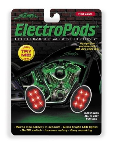 Street FX Electropods Oval Lightpod - Red/Black 1042517 (Electropods Fx Street Light)