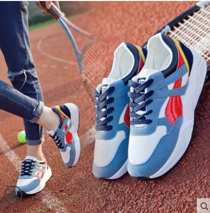 Autumn Spring Blue Shoes Sneakers High GUNAINDMXSneakers spring Coloring Ladies red Autumn Tourism Casual and OnzXXYx