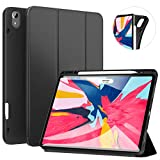 Ztotop Case for iPad Pro 12.9 Inch 2018, Full Body Protective Rugged Shockproof Case with iPad Pencil Holder, Auto Sleep/Wake, Support iPad Pencil Charging for iPad Pro 12.9 Inch 3rd Gen - Black