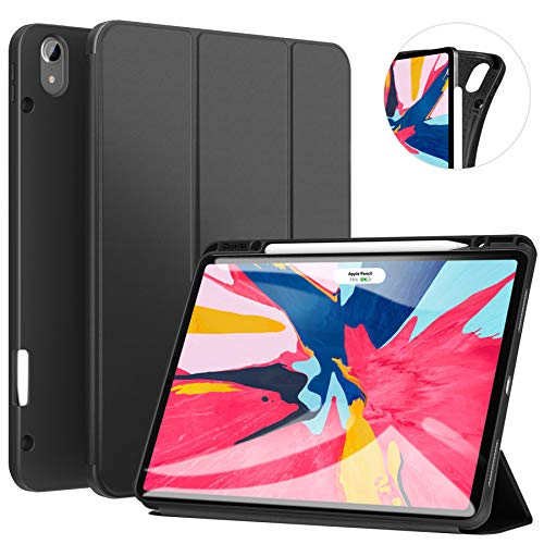 ZtotopCase for iPad Pro 12.9 Inch 2018, Full Body Protective Rugged Shockproof Case with iPad Pencil Holder, Auto Sleep/Wake, Support iPad Pencil Charging for iPad Pro 12.9 Inch 3rd Gen - Black