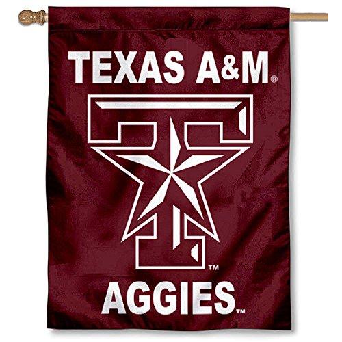 Texas A&M Star Logo Banner House Flag
