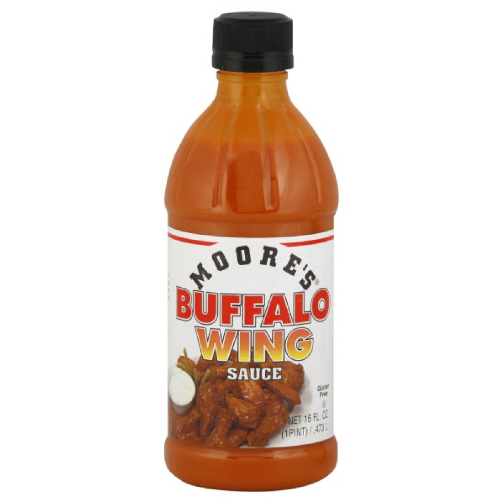 Moore's Sauce, Buffalo Wing, 16-Ounce (Pack of 6)