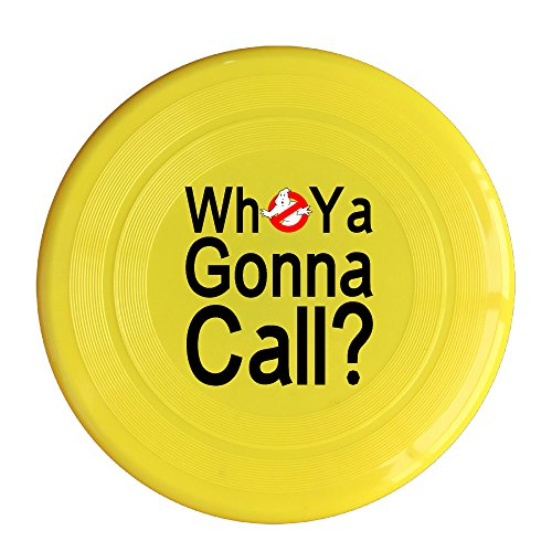 Discovery Wild Ghostbusters Logo Who You Gonna Call Plastic Flying Sport Discs - Frisbee Like Toy For Outdoor Game Play - Sports For All Ages - Party Fun - Yellow