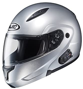 HJC CL-MAXBT II Bluetooth Modular Motorcycle Helmet (CR Silver, X-Large