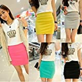 moahhally Women's Sexy Mini Skirt Slim Seamless Stretch Tight Short Fitted Pencil Skirt