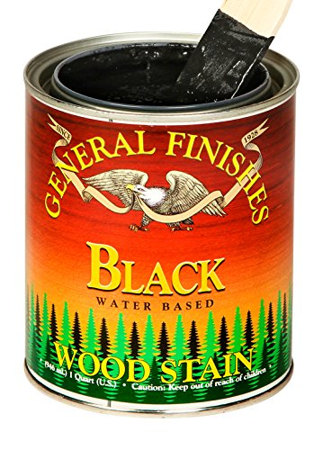 General Finishes Water Based Wood Stain, 1 Quart, Black ()