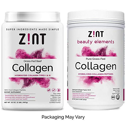 Collagen Peptides Powder XL (32 oz): Paleo & Keto Friendly Grass-Fed Hydrolyzed Collagen Protein Supplement - Unflavored, Non GMO (Packaging May Vary)