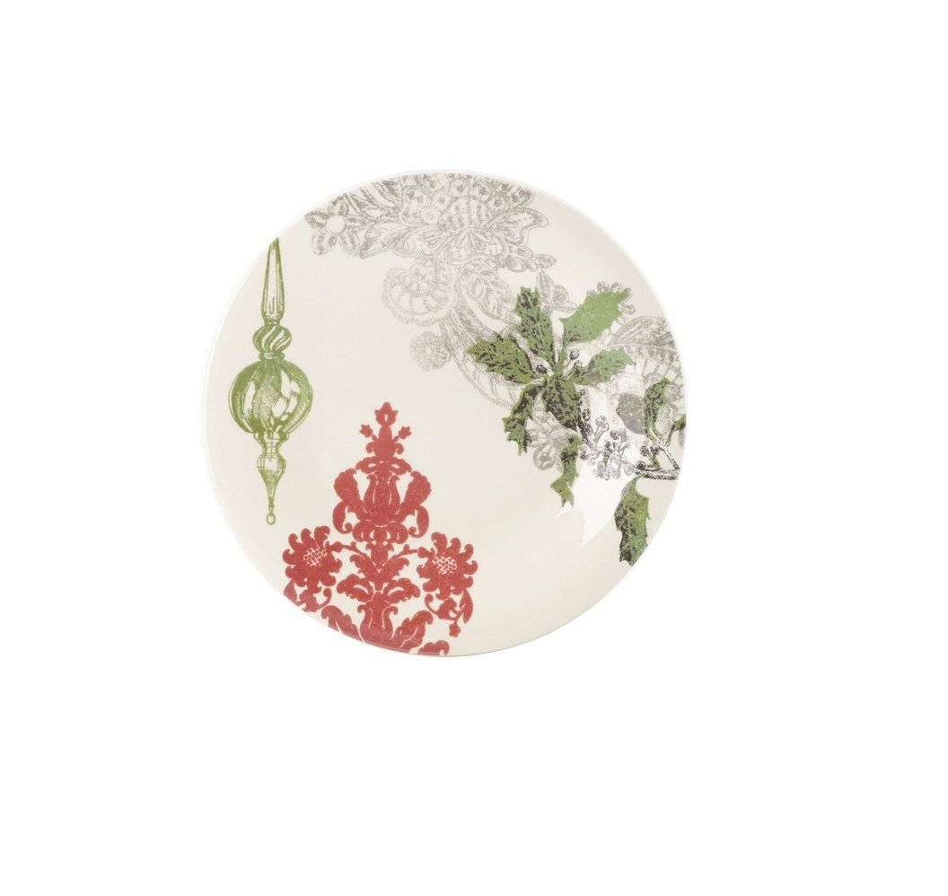 Christmas Tablescape Décor - Lenox Vintage Jubilee Green Ornament Accent Plate
