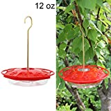 Juegoal 12 oz Hanging Hummingbird Feeder with 8 Feeding Ports