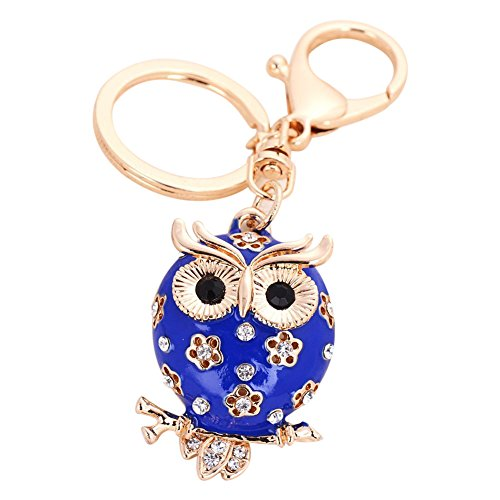 - Owl Keychain Fashion Womens Cute Animal Key Chain Keying Holder Pendant Jewelry(Blue) FBA