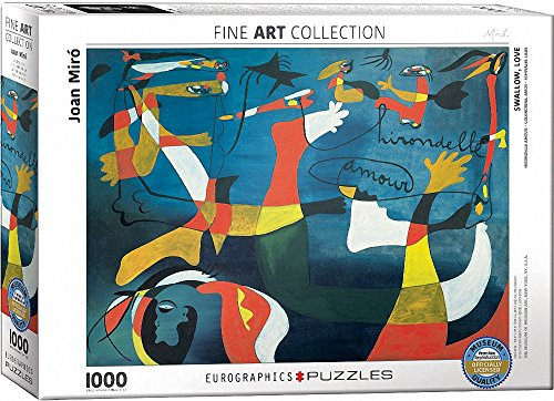 EuroGraphics Swallow Love By Joan Miro (1000 Piece) Puzzle