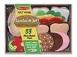 #8: Melissa & Doug Felt Food Sandwich Play Food Set (33 pcs)