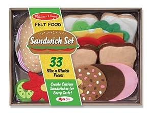 Amazon Com Melissa Amp Doug Felt Food Sandwich Play Food
