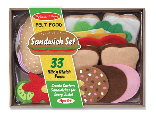 Melissa & Doug Felt Food Sandwich Play Food Set (33 pcs) (Felt Food Sandwich Set compare prices)
