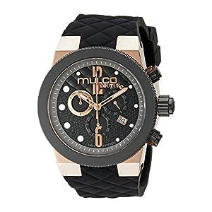 MULCO Men's MW5-2552-023 Couture Analog Display Swiss Quartz Black Watch