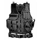 HoneybeeLY Simulated Tactical Military Vest, Adjustable Elite Series Tactical Vest, Army Paintball Airsoft Combat Assault Vest For Army Combat Game Jungle And Outdoor Activities