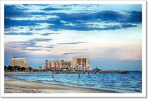 Biloxi Casino - Barewalls Biloxi Casinos and Buildings Paper Print Wall Art (12 in. x 18 in.)