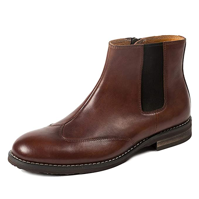 Botas Chelsea De Hombre Zapatos De Cuero Brogues Para Hombre Botas Altas Botas De Cuero Botas Martin Botines Sin Cordones Smart Casual Desert: Amazon.es: ...