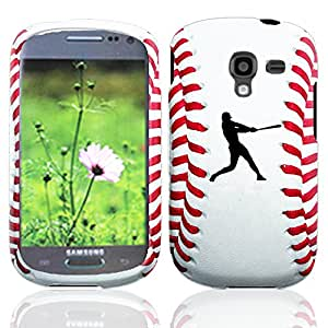 IMAX Cool Design Rubberized Hard Case Snap on Cover for Samsung Galaxy Exhibit T599 (Baseball Hitter)