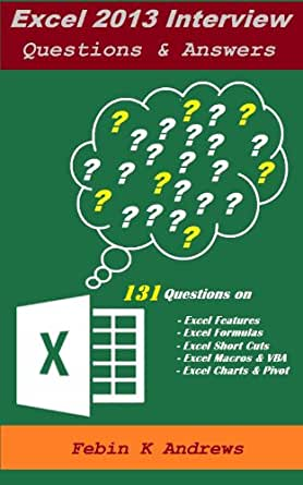 Amazon.com: Excel Interview Questions & Answers (Let us ...