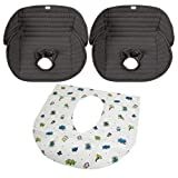 Summer Infant Deluxe Piddle Pad, Black - 2 Pack with Disposable Potty Protectors 10-Pack