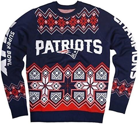 新しいEngland Patriots Super Bowl XLIX Champ NFL醜いセーターMedium