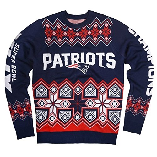 01c63d1e New England Patriots Ugly Christmas Sweaters