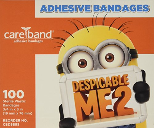 Despicable Me Bandages 3/4x3 100 per box -