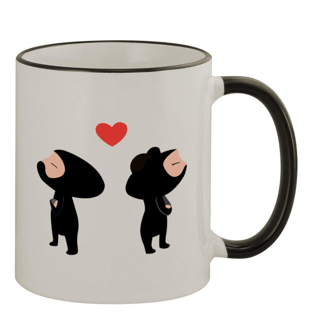 Amazon.com: Ninja Love #237 - Funny Humor 11oz Black Handle ...