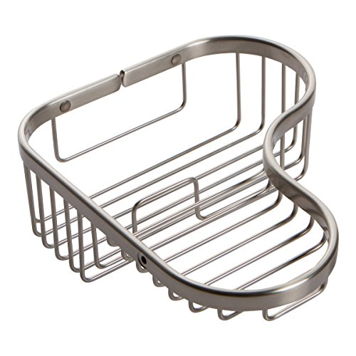 Ginger 504L/SN Splashables Wall Mounted Combination Soap and Toiletry Corner Shower Basket, Satin ()