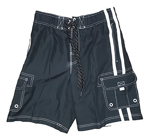 op-black-solid-side-stripe-tugger-above-knee-205-outseam-swim-short-trunks-medium
