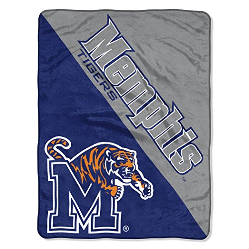 The Northwest Company Officially Licensed NCAA Memphis Tigers Halftone Micro Raschel Throw Blanket, 46