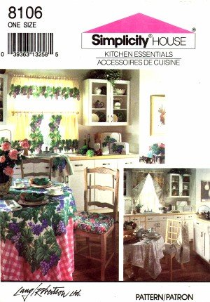 - Simplicity 8106 Sewing Pattern Home Decorating Kitchen Accessories