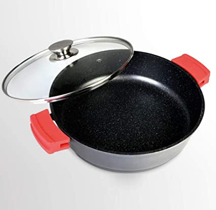 WeCook 10301 Cazuela Baja para Inducción, Antiadherente, Aluminio Forjado, 30cm Libre de BPA