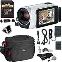 Canon Vixia Hf R800 White A Camcorder Kit, Polaroid 32GB Class 10 SD Card, Ritz Gear Bag, Cleaning Kit, Ritz Gear Card Reader and Accessory Bundle