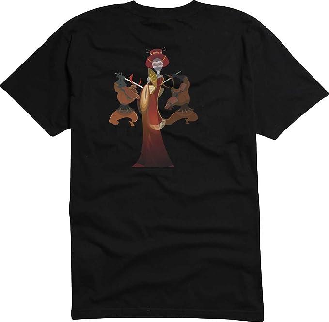 T-Shirt - Camiseta D1024 Hombre negro con la impresión en color - Kimono / muje / mitología japonesa: Amazon.es: Ropa y accesorios