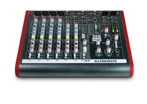 Allen & Heath ZED-10FX Four Mono Mic/Lines with 2 Active D.I., 3 Stereo Line Inputs and Onboard Effects by Allen & Heath