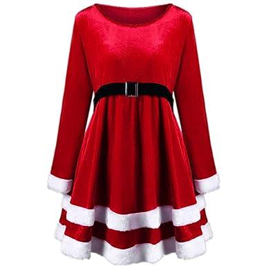 Mujeres De Navidad Vestidos Rojos Vestido De Invierno Para