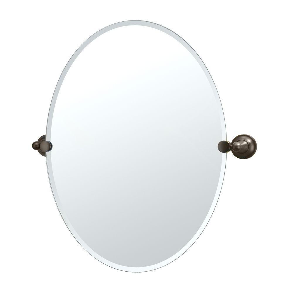 Amazon Gatco 4329 Tiara Oval Wall Mirror Chrome Home Improvement