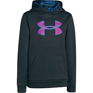 under armour zip up. under armour boys\u0027 ua fleece storm big logo hoody anthracite / strobe electric zip up d