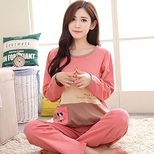 1d86d505fca HITSAN 2018 Women Pajamas Sets Autumn Winter Long Sleeve Cartoon Printed  Cute Thick Sleepwear Girl Pijamas