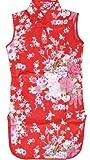 Sunny Fashion Girls Dress Artificial Silk Cheongsam Hot Pink Size 12-18m
