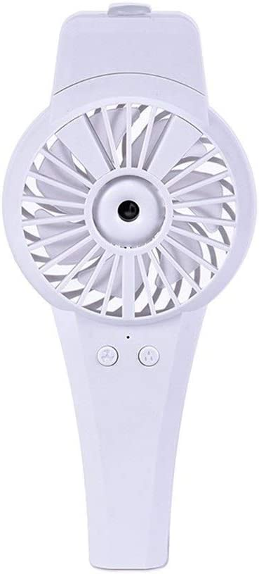 Air Cooling Fan Small Fan Portable USB Charging Travel Handheld Electric Fan Dormitory Desktop Mini Personal Fan Color : White