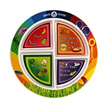 Fresh Baby 4 Section Children's Plate, English