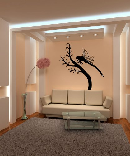 Stickerbrand Vinyl Wall Decal Sticker Dragonfly on Branch OS_MB695s ()